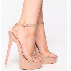 Brand new Fashion Nova Nude Heels